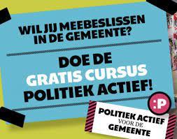 Doe je mee aan de gratis curus politiek actief?